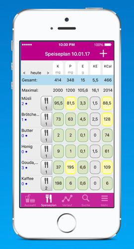 Ernahrungs App Diabetes Diat Coach Nephron Verlag
